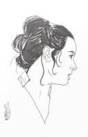 "Tom Hodges - Rey - ""Star Wars"" - Signed ORIGINAL 5.5"" x 8.5"" Drawing on Paper (1/1) at PristineAuction.com"