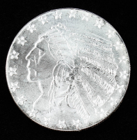 1 Troy Ounce .999 Fine Silver Incuse Indian Bullion Round at PristineAuction.com