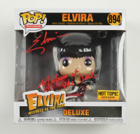 "Elvira Signed ""Elvira: Mistress of the Dark"" Deluxe #894 Elvira Funko Pop! Vinyl Figure Inscribed ""Mistress of the Dark"" (Beckett COA) at PristineAuction.com"