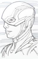 "Tom Hodges - The Flash - Ezra Miller - DC Comics - Signed ORIGINAL 5.5"" x 8.5"" Drawing on Paper (1/1) at PristineAuction.com"