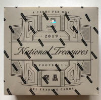 2019 Panini National Treasures Football Hobby Box with (8) Cards at PristineAuction.com