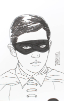 "Tom Hodges - Robin - Burt Ward - ""Batman"" - DC Comics - Signed ORIGINAL 5.5"" x 8.5"" Drawing on Paper (1/1) at PristineAuction.com"