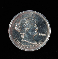 1 Ounce .999 Fine Silver 1980 Liberty Lobby Bullion Round at PristineAuction.com