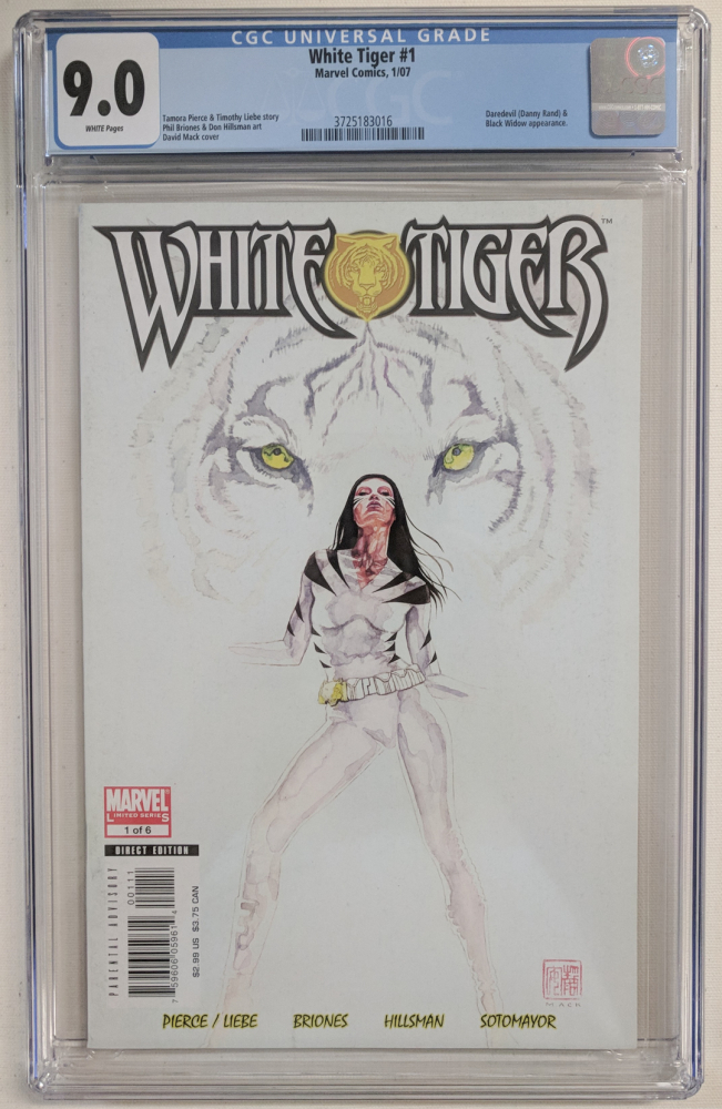 """2007 """"White Tiger"""" Issue #1 Marvel Comic Book (CGC 9.0) at PristineAuction.com"""
