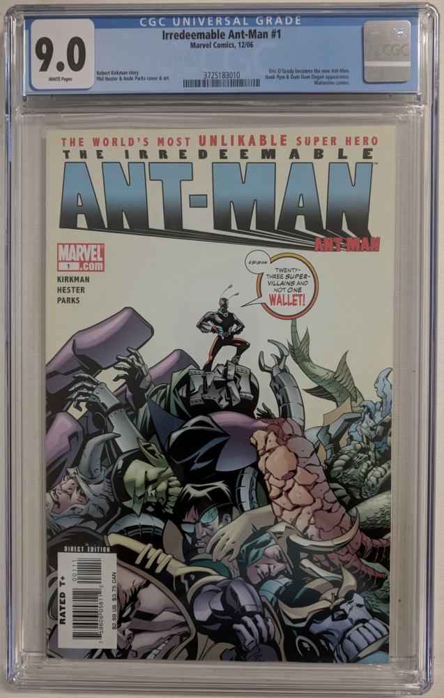 "2006 ""The Irredeemable Ant-Man"" Issue #1 Marvel Comic Book (CGC 9.0) at PristineAuction.com"