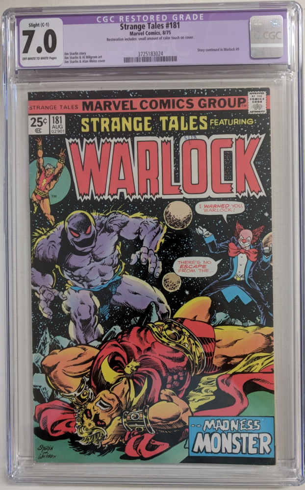 """1975 """"Strange Tales"""" Issue #181 Marvel Comic Book (CGC Restored 7.0) at PristineAuction.com"""