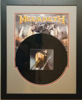 "Dave Mustaine Signed ""Megadeth"" 18x26 Custom Framed LP Display (JSA COA) at PristineAuction.com"