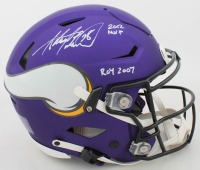 "Adrian Peterson Signed Vikings Full-Size Authentic On-Field Matte Purple SpeedFlex Helmet Inscribed ""2012 MVP"" & ""ROY 2007"" (Beckett COA) at PristineAuction.com"