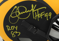 Eric Dickerson & Marshall Faulk Signed Rams Full-Size Eclipse Alternate Speed Helmet with (4) Career Stat Inscriptions (Beckett COA) at PristineAuction.com