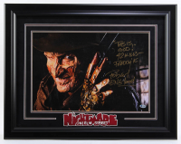 "Robert Englund Signed ""A Nightmare on Elm Street"" 21.75x27.75 Custom Framed Photo Display Inscribed ""This is God!"" & ""42 Kills - Freddy K"" (Beckett Hologram) at PristineAuction.com"