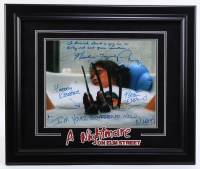 "Robert Englund & Heather Langenkamp Signed ""A Nightmare on Elm Street"" 19.75x23.75 Custom Framed Photo Display with Multiple Inscriptions (Beckett COA) at PristineAuction.com"
