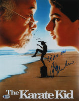 "Ralph Macchio Signed ""The Karate Kid"" 11x14 Photo Inscribed ""Wax On"" (Beckett COA) at PristineAuction.com"
