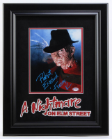 """Robert Englund Signed """"A Nightmare on Elm Street"""" 15.75x19.75 Custom Framed Photo Display Inscribed """"Freddy K"""" (PSA COA) at PristineAuction.com"""