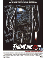 "Ari Lehman Signed ""Friday the 13th"" 8x10 Photo Inscribed ""Jason 1"" & ""Jason Never Dies!"" (Beckett COA) at PristineAuction.com"