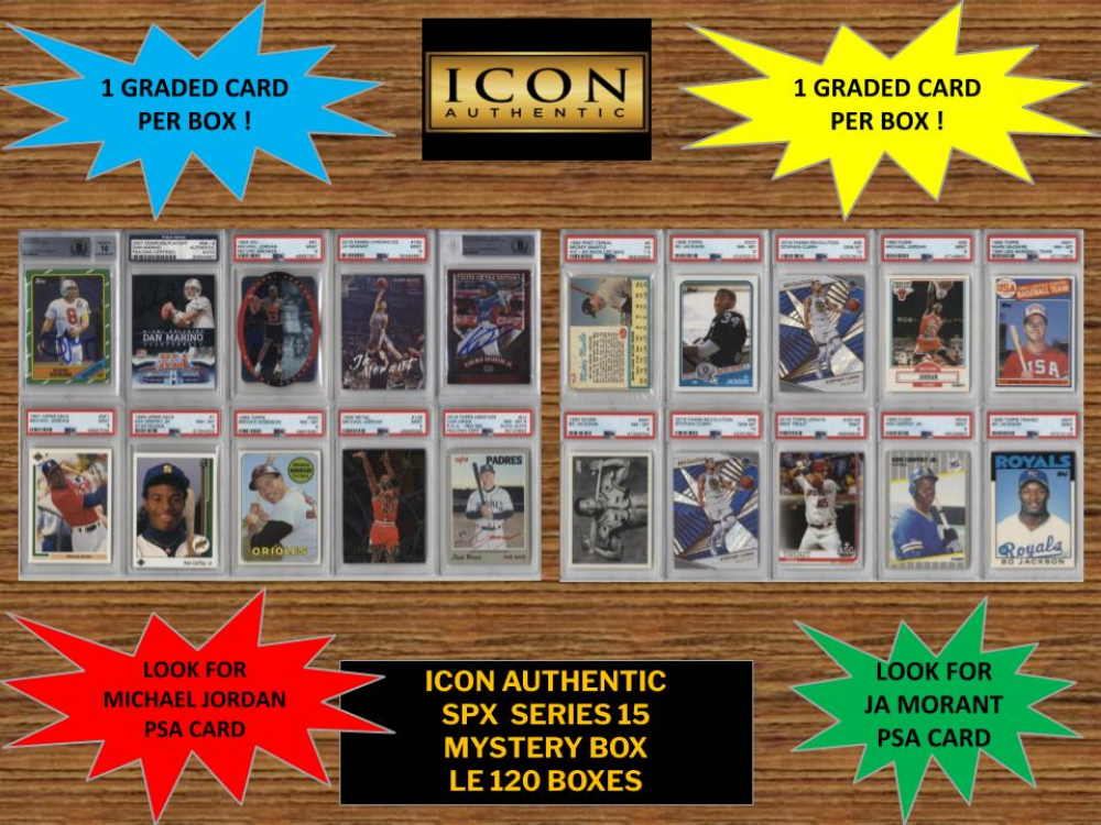 Icon Authentic SPX Series 15 Mystery Box 100+ Cards Per Box at PristineAuction.com