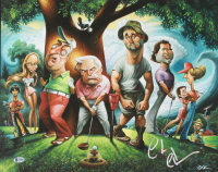 """Chevy Chase Signed """"Caddyshack"""" 16x20 Lithograph (Beckett COA) at PristineAuction.com"""