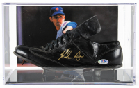 Nolan Ryan Signed Vintage Baseball Cleat with Display Case (PSA COA) at PristineAuction.com