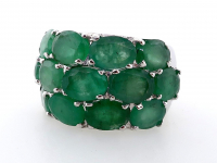 9.75ct Natural Emerald Ring (GAL Certified) at PristineAuction.com