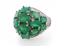 9.80ct Natural Emerald Ring (GAL Certified) at PristineAuction.com