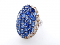 7.65ct Natural Kyanite & Yellow Sapphire Ring (GAL Certified) at PristineAuction.com