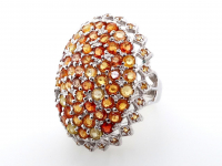 6.65ct Natural Multi-Colored Sapphire & Ruby Ring (GAL Certified) at PristineAuction.com