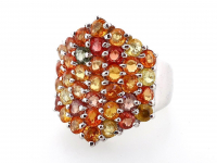 4.80ct Natural Multi-Colored Sapphire & Ruby Ring (GAL Certified) at PristineAuction.com