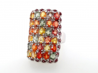 6.50ct Natural Multi-Colored Sapphire Ring (GAL Certified) at PristineAuction.com