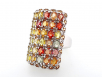 6.75ct Natural Multi-Colored Sapphire Ring (GAL Certified) at PristineAuction.com