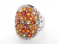 4.20ct Natural Multi-Colored Sapphire & Ruby Ring (GAL Certified) at PristineAuction.com