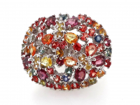 4.05ct Natural Multi-Colored Sapphire & Ruby Ring (GAL Certified) at PristineAuction.com