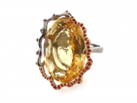 29.25ct Natural Citrine & Ruby Ring (GAL Certified) at PristineAuction.com