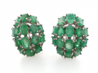 9.15ct Natural Emerald Earrings (GAL Certified) at PristineAuction.com