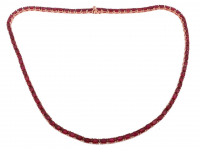21.50ct Natural Ruby Tennis Necklace (GAL Certified) at PristineAuction.com