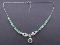 13.20ct Natural Emerald & Black Opal Necklace (GAL Certified) at PristineAuction.com