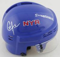 Chris Kreider Signed Rangers Mini Helmet (Kreider COA) at PristineAuction.com