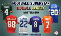 Schwartz Sports Football Superstar Signed DOUBLE Football Jersey Mystery Box - Series 3 - (Limited to 100) (2 JERSEYS IN EVERY BOX!!) at PristineAuction.com