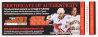 Johnny Gaudreau Signed Flames Mini Helmet (Gaudreau COA) at PristineAuction.com