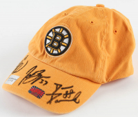 Boston Bruins Fitted Hat Signed by (3) Brad Marchand, Patrice Bergeron, & David Pastrnak (Perfection Line COA) at PristineAuction.com