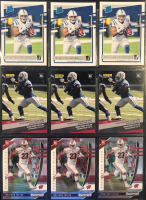Lot of (9) Jonathan Taylor 2020 Rookies Cards with (3) Donruss RR #317, (3) Panini Instant #30 & (3) Prizm Draft #106 at PristineAuction.com