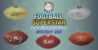 Schwartz Sports Football Superstar Signed Full Size Football Mystery Box - Series 22 (Limited to 100) at PristineAuction.com
