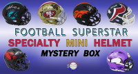 Schwartz Sports Football Superstar Signed SPECIALTY Mini Helmet Mystery Box - Series 9 (Limited to 150) at PristineAuction.com