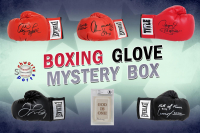 Schwartz Sports Boxing Superstar Signed Mystery Boxing Glove - Series 9 (Limited to 100) **MUHAMMAD ALI Autograph – Grand Prize** at PristineAuction.com
