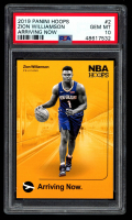 Zion Williamson 2019-20 Hoops Arriving Now #2 (PSA 10) at PristineAuction.com