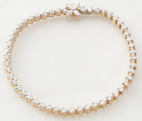 1.61ct Diamond Bracelet 14kt Yellow Gold (Heritage Appraisal) at PristineAuction.com