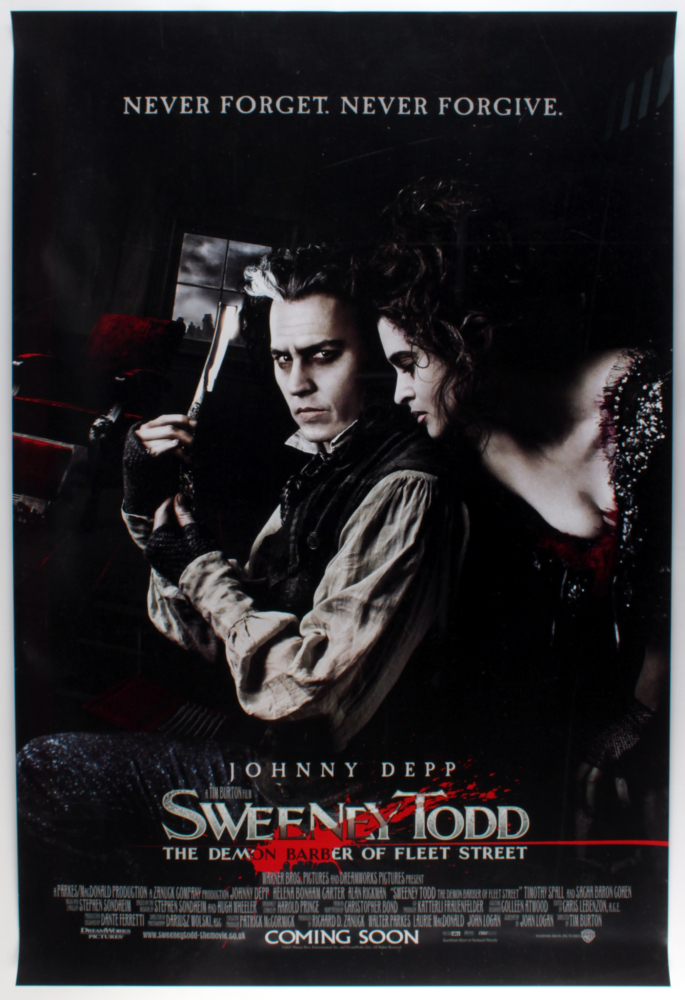 """""""Sweeney Todd: The Demon Barber of Fleet Street"""" 27x40 Movie Poster at PristineAuction.com"""