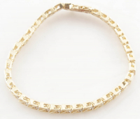 1.03ct Diamond Bracelet 14kt Yellow Gold (Heritage Appraisal) at PristineAuction.com