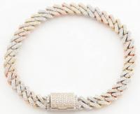 4.26ct Diamond Bracelet 10kt Tri-Tone Yellow Gold (Heritage Appraisal) at PristineAuction.com