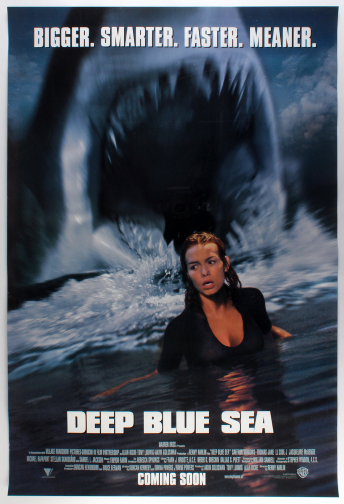 """Deep Blue Sea"" 27x40 Movie Poster at PristineAuction.com"