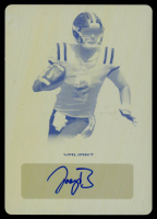 Joe Burrow 2020 Leaf Valiant Yellow Printing Plate #BAJB1 at PristineAuction.com