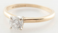 0.49ct Diamond Engagement Ring 14kt Yellow Gold (Heritage Appraisal) at PristineAuction.com
